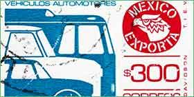 stamp with car