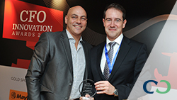 Eric Malterre, Vice President, Regional Head of Sales, Asia Pacific received the award on behalf of Coface.